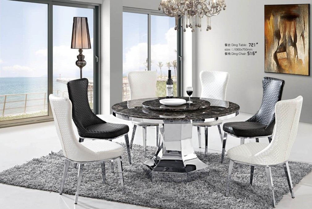 Home Furniture Dining Room Chairs High Back Comfortable Chair Restaurant Pouf With Stainless Steel Legs