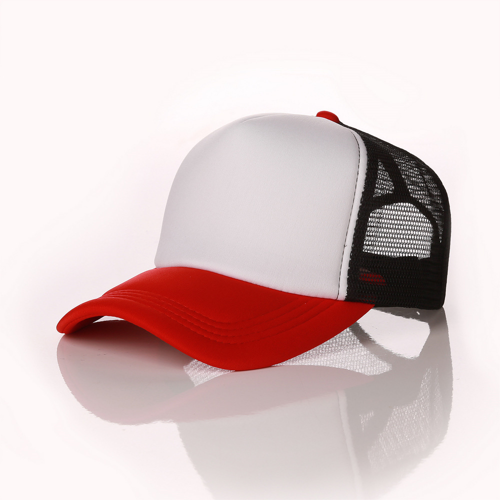 afac336f017 Factory Free Custom Logo Baseball Cap Adult Personality DIY Design Trucker  Hat Polyester Hats Blank Mesh Cap Men Women-in Baseball Caps from Apparel  ...