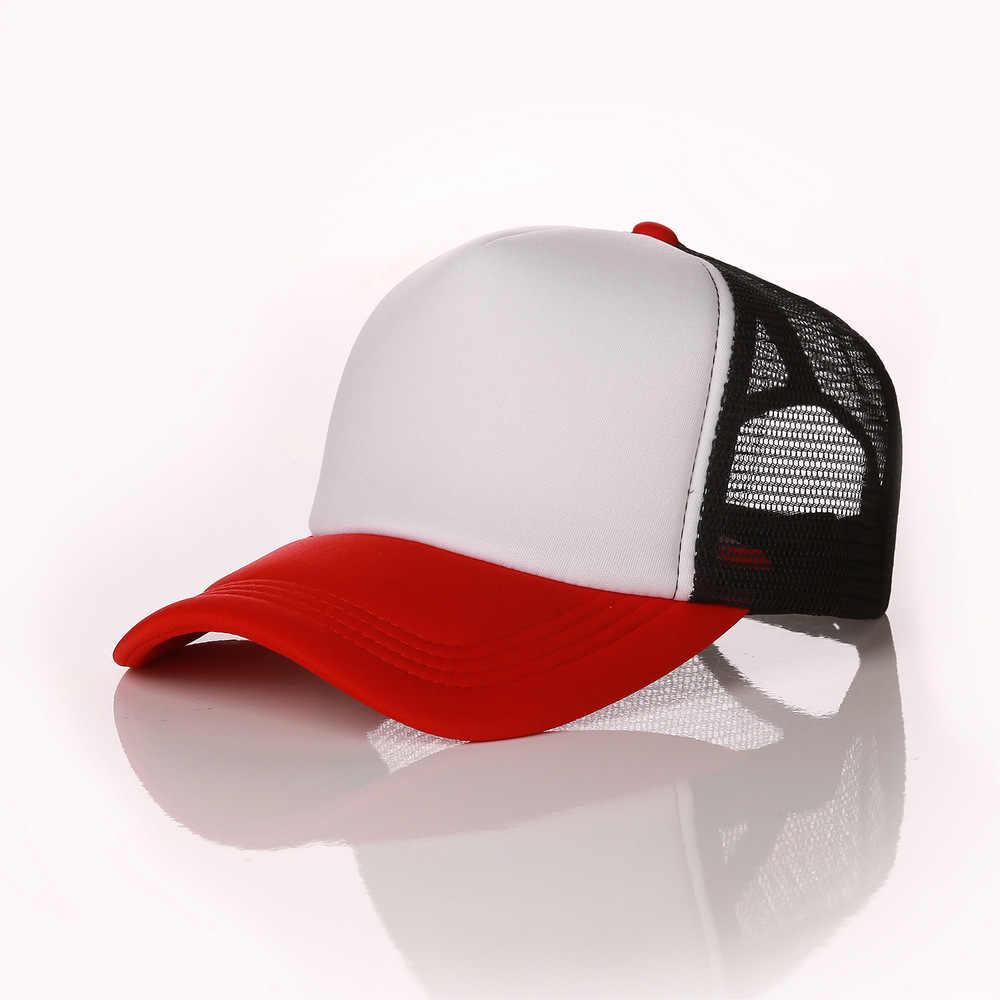 4e13c00dce062 ... Factory Free Custom Logo Baseball Cap Adult Personality DIY Design  Trucker Hat Polyester Hats Blank Mesh ...