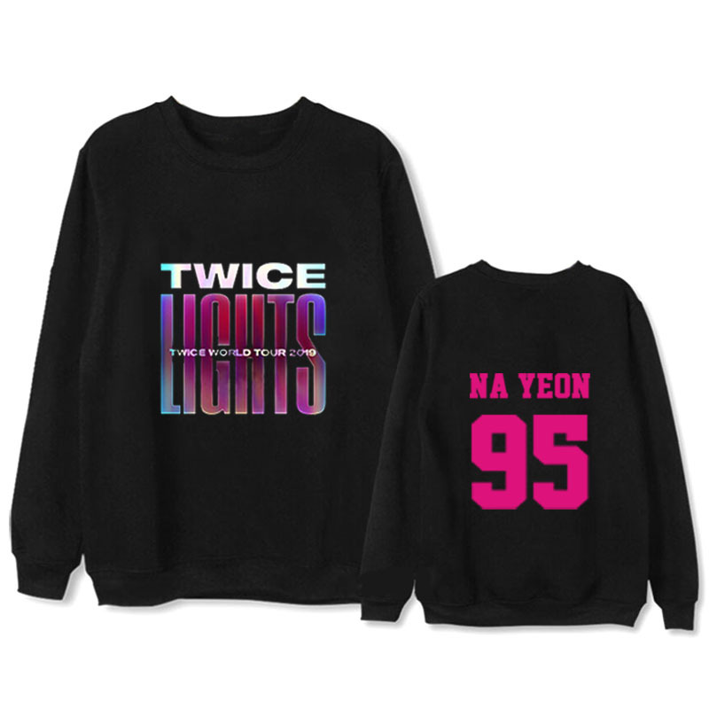 TWICE Sweater WORLD TOUR 2019 Concert With The Same Paragraph Round Neck Thin Jacket Men And Women Summer Dropshipping