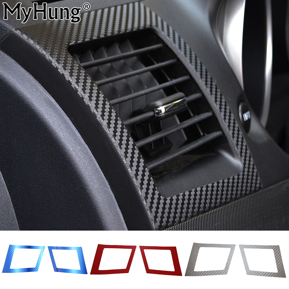 car air conditioning outlet sticker for mitsubishi lancer ex 2010 2011 2012 carbon fiber car. Black Bedroom Furniture Sets. Home Design Ideas