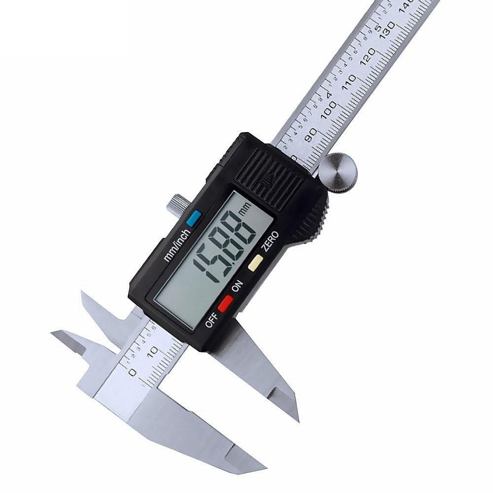 Vernier Metric Digital Caliper with LCD Display 0-6 inch / 150mm Stainless Steel Electronic Depth Gauge Measuring Tools