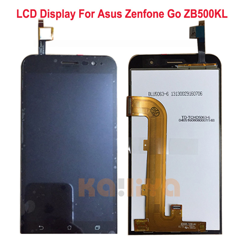 ФОТО For Asus Zenfone Go ZB500KL Mobile Phone Full LCD Display with Touch Screen Digitizer Sensor Assembly Replacement Parts  5.0 New