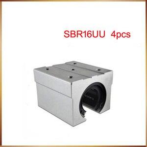 Image 1 - Sbr16 Бесплатная доставка SBR16 SBR16UU 16 мм линейный Шарикоподшипниковый блок CNC маршрутизатор