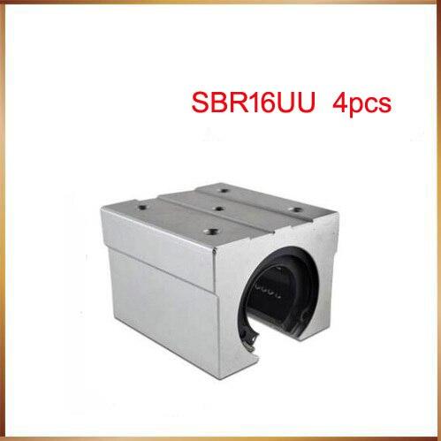 Sbr16 Бесплатная доставка SBR16 SBR16UU 16 мм линейный Шарикоподшипниковый блок CNC маршрутизатор