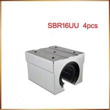 Sbr16 darmowa wysyłka SBR16 SBR16UU 16mm liniowy blok łożyska kulowego CNC Router
