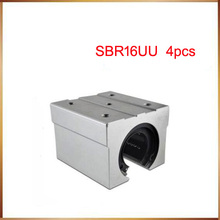 sbr16 free shipping SBR16 SBR16UU 16mm Linear Ball Bearing Block CNC Router 16mm linear block shafts sc16uu scs16uu cnc router diy cnc parts metal linear ball bearing pellow block linear unit shafts
