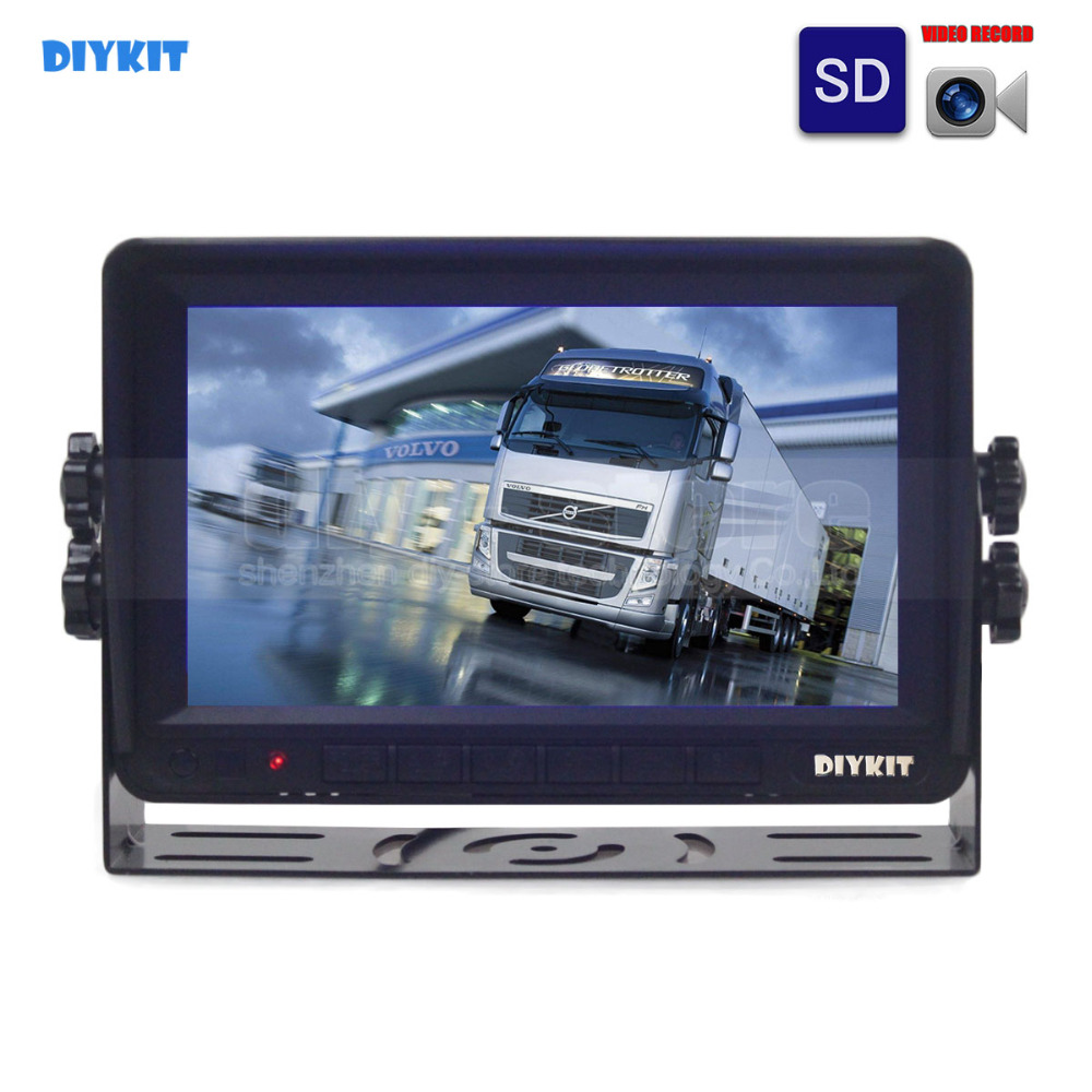 DIYKIT AHD 7inch TFT LCD Car Monitor Rear View Monitor Support 960P AHD Camera Support SD