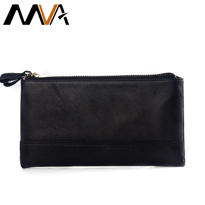 MVA Genuine Leather Wallets Mens Wallet Clutch Zipper font b Money b font font b Clip