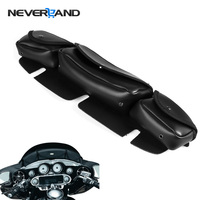 Neverland Motorcycle Windscreen Bag 3 Pocket Fairing Tri Pouch For Harley Touring Electra Street 96 13 Black Motorbike Bags D25