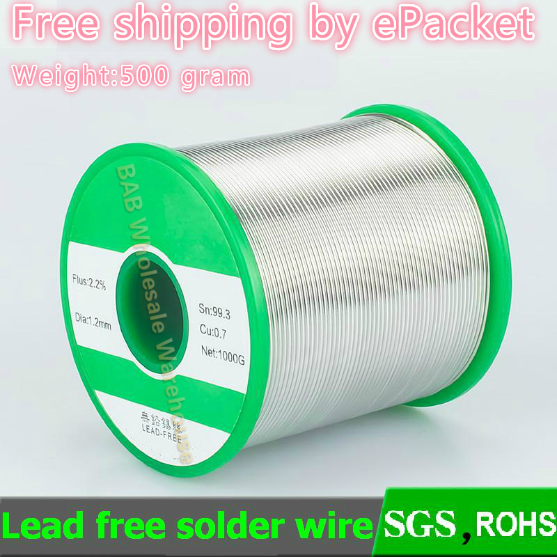 500g roll Lead free solder wire Environmental protection soldering wire 99 3percentSn 0 3percentCu 0 5 0 6 0 8 1 0  1 2mm super strength