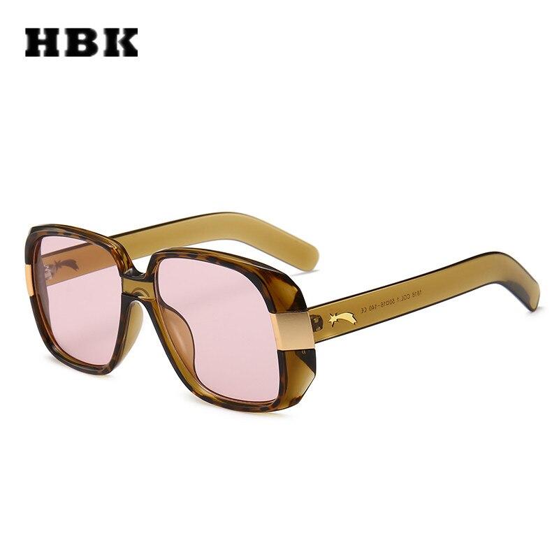 HBK lunettes de soleil unisexe Square | Grand cadre, lunettes de soleil de styliste 2018 Vintage pour femmes et hommes, nouvelle mode à la mode, lunettes de soleil UV400