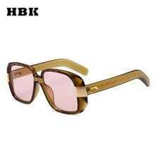 HBK Unisex Pilot Square occhiali da sole Big Frame Vintage donna uomo Brand Designer 2018 New Fashion Trendy occhiali da sole Eyewear UV400