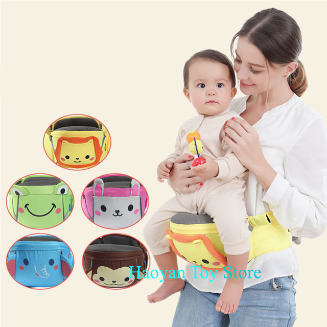 3-36 Months Baby Carrier Waist Stool Breathable Front Facing Baby Carrier 4 in 1 Infant Comfortable Sling Backpack Pouch Wrap
