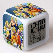 S h figuarts goku Figurines d'anime Dragon Ball Z réveil LED coloré Flash tactile lumière Dragon balle Super Figuras jouets enfants