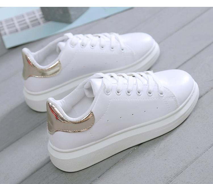 Φ_ΦFemmes chaussures mode blanc baskets Chunky vulcaniser