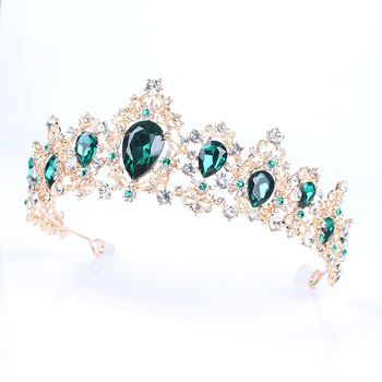 Красивая свадебная тиара Корона Свадебная Корона из сплава горный хрусталь кристалл аксессуары для волос HY99