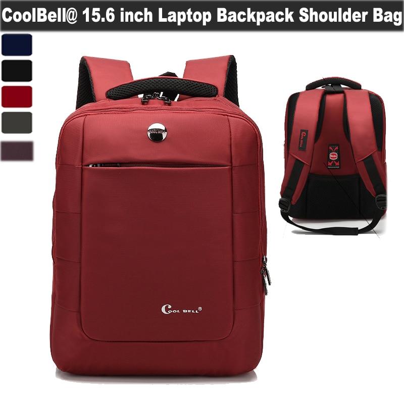 CoolBell Премиум Ударопрочный Компьютер Бизнеса Туристическое Снаряжение Рюкзак Работа Сумка Рюкзак Для Ноутбука для Apple Macbook Air/Pro 15.4 дюймов