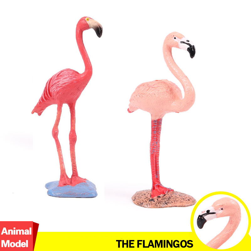 Action&Toy Figure Wildlife Animal The Flamingo Simulation PVC Model Collectible Doll Figure Collection For Kid Children Gift