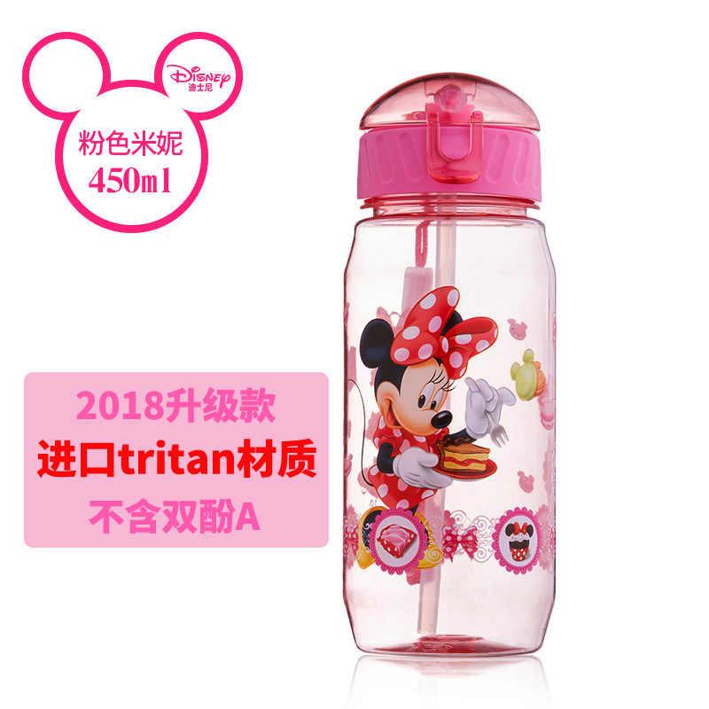 Disney Mickey Mouse dessin animé tasses enfants cadeau portable créatif communes boisson droite Sport bouteilles princesse alimentation tasses