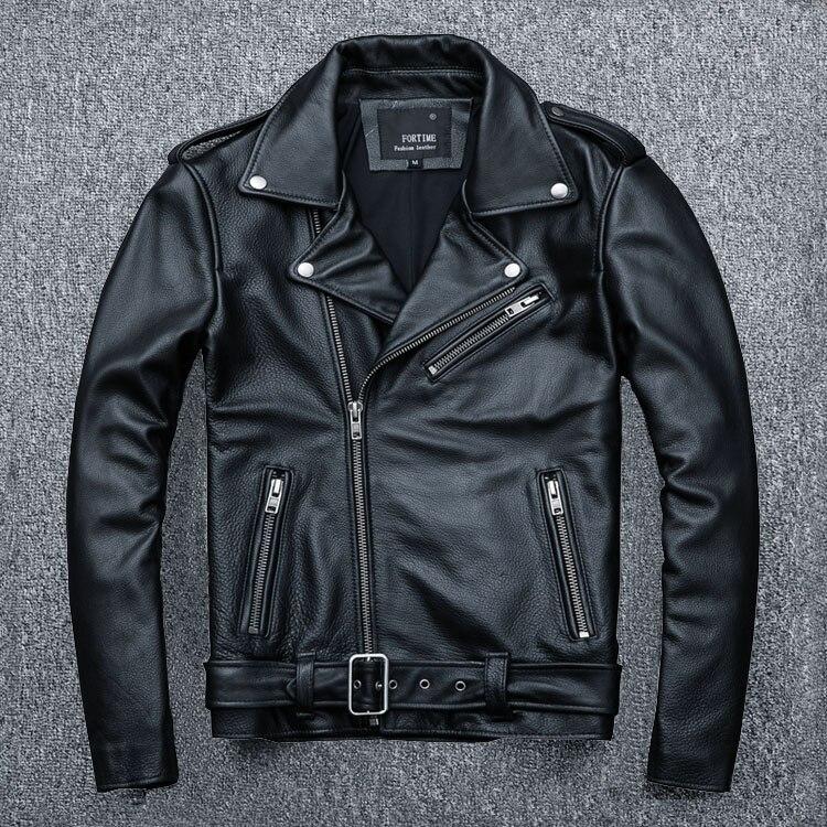 HTB1oTtHB8mWBuNkSndVq6AsApXa3 MAPLESTEED Classical Motocycle Jackets Men Leather Jacket 100% Natural Calf Skin Thick Moto Jacket Man Biker Coat Winter M192