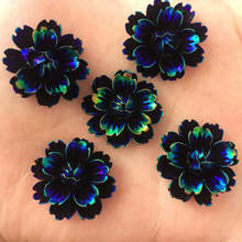 NEW 6PCS 25mm AB Resin Candy Color Flower Stone Flatback Wedding Buttons Crafts K130