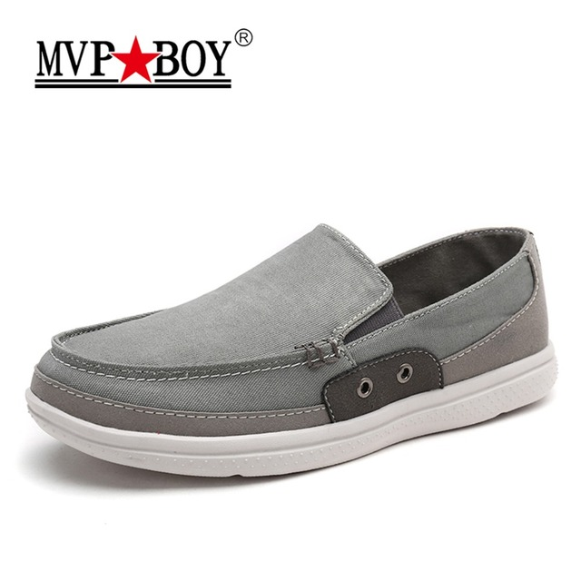 4be3993c54de MVP BOY Brand 2018 Classic Summer Slip On Men Canvas Shoes Fashion Solid  Breathable Big Size Casual Men Shoes