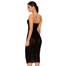 Fashion Ruffle Mesh Sexy Dress Women V-neck Backless Bandage Dresses 2018 New Arrival Clothing For Women Vestidos Sundress Cheap