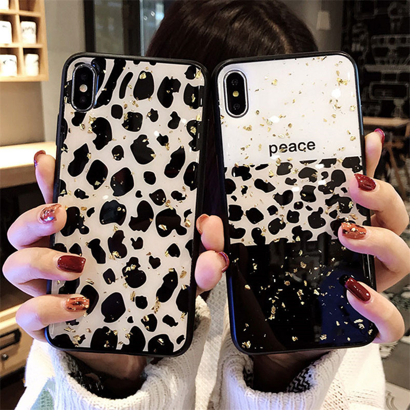 Fashion Bling Leopard TPU Case For Samsung Galaxy S8 S9 Plus J2 Prime Note9 J5 J7 J3 2017 J4 J6 2018 J4PLus A6 A7 A9 A750 Cover image