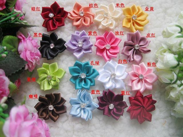 Diy Handmade Flower 3cm Lotus Ribbon Flower Candy Box Packing