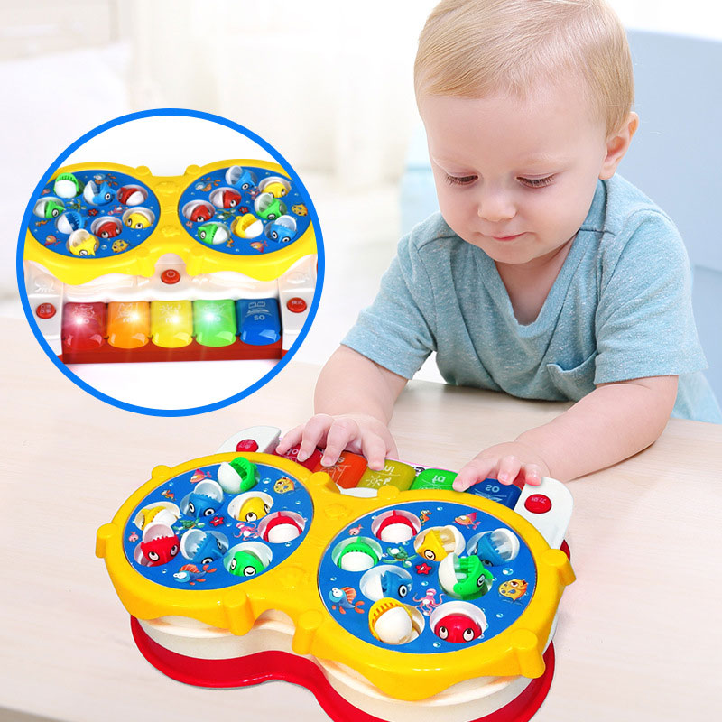 2in1 Function Baby Kids Toys Classical Songs Fishing&Music Toy with Lights Toy Gifts @ZJF