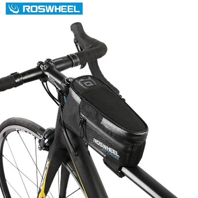 ROSWHEEL 자전거 가방 자전거 가방 전면 프레임 최고 튜브 가방 자전거 자전거 가방 액세서리 새로운 1.5L 100 % 방수 재고