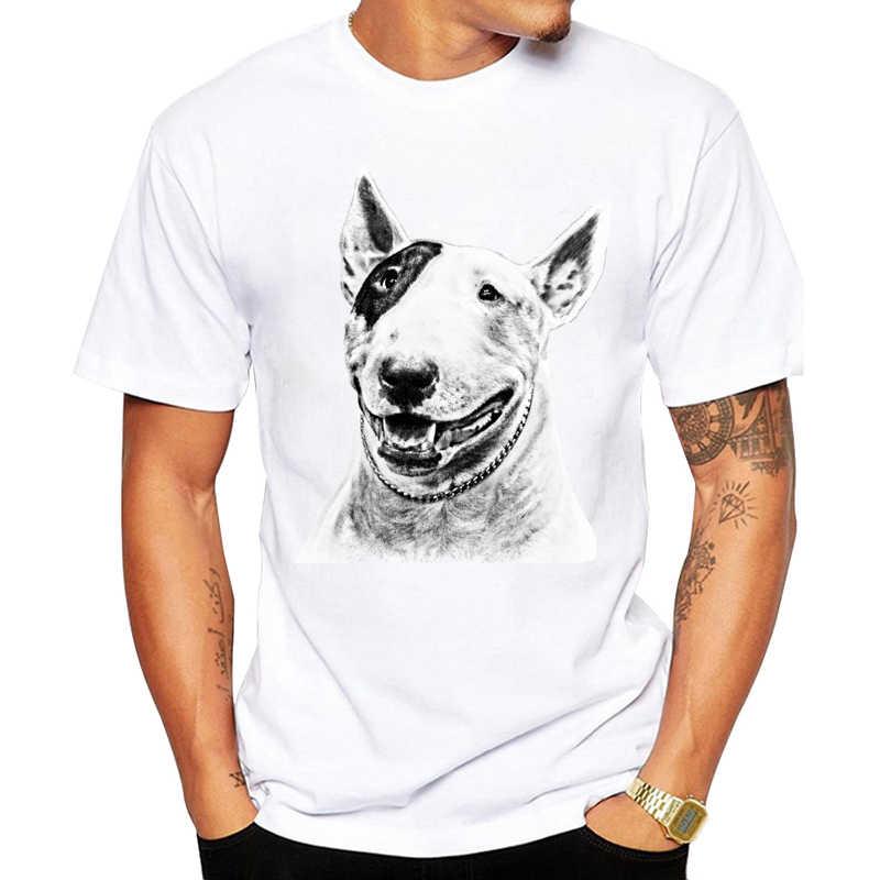 Bull Terrier Dog Pet Design Divertente T Shirt per Gli Uomini e Le Donne Unisex Traspirante Grafici Premium T-Shirt da Uomo Streewear