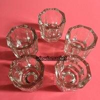 5Pcs White Glass Dappen Dishes Tiny Mixing Bowls Glassware New