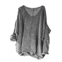 613a3e4a19e Для женщин 2018 весна осень 5XL свободный уличный стиль свитера Женская мода  пикантные свитер с треугольным