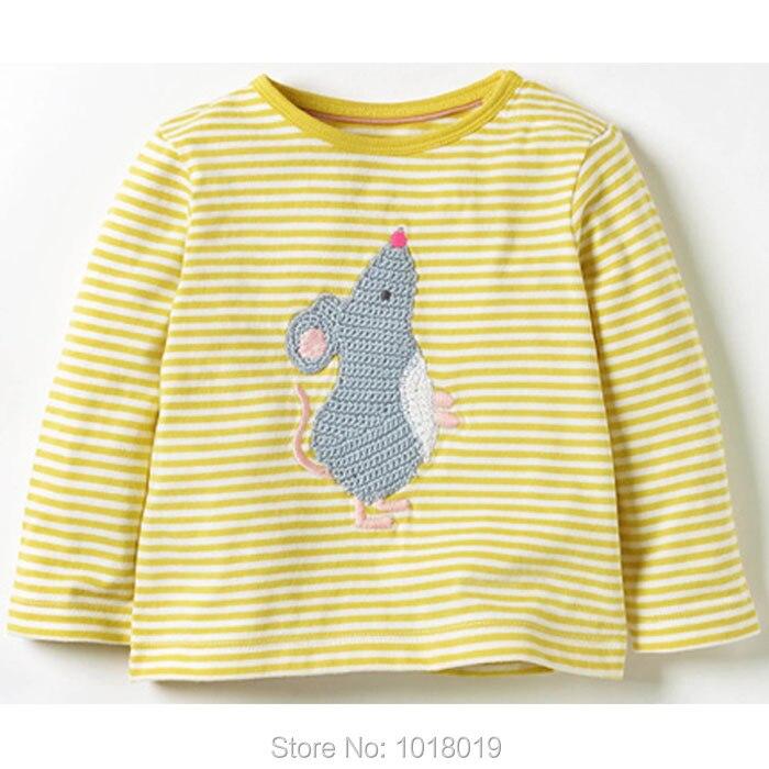 New 2018 Baby Girls t shirt Brand Quality 100% Cotton Baby Girl Clothes Kids t-shirt Long Sleeve Children Clothing tshirt Blouse