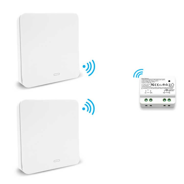 No Wire Professional Sale Wireless Switch Kinetic Self-powered Wall Switch No Battery Needed Easy To Install Special Summer Sale Lighting Remote Control Up To 30m