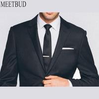 MEETBUD New Fashion Brand Custom Made Men Suit Sets Wedding Black Wool Suit Slim Fit Business Attire Casual Men Suits Dress