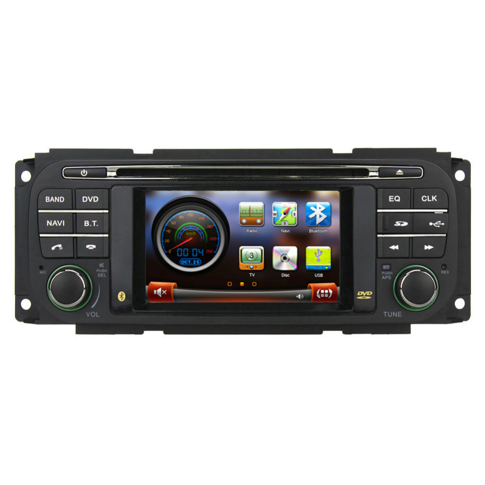 Autoradio Gps Dvd Navigation Stereo Headunit For Jeep Grand Cherokee For Dodge Dakota With on Dodge Dakota Car