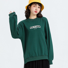 Jvzkass 2019 new fashion comfortable embroidery spring and autumn coat round neck sweatshirt female trend students take Z316