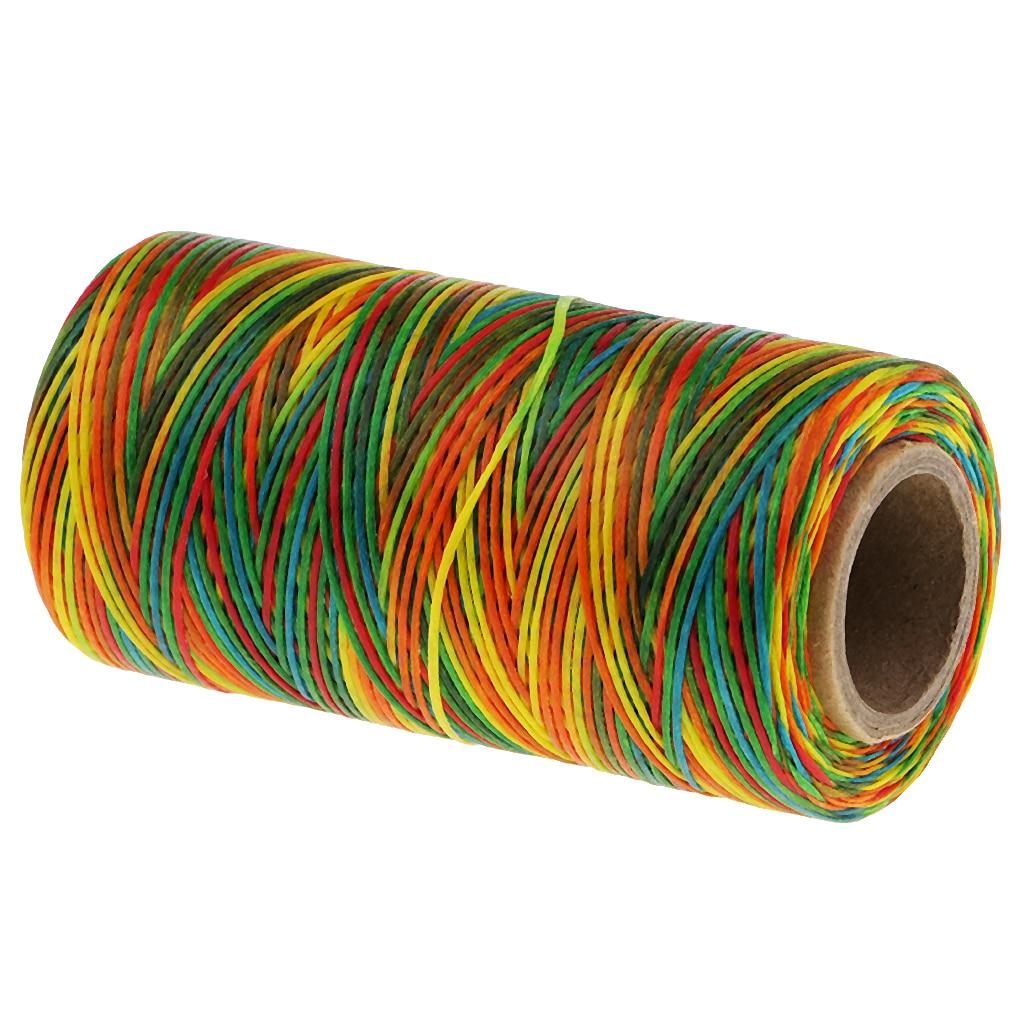 Цветная вощеная нить для шитья кожи, 200 м, 150D, 1 мм, ручная строчка для кожи, сделай сам