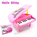 Hot Sale Percussions Hello Kitty Keyboard Piano Toy/11-key Piano educational Toy Girls Pretend Play Educational Toy Free Shippin