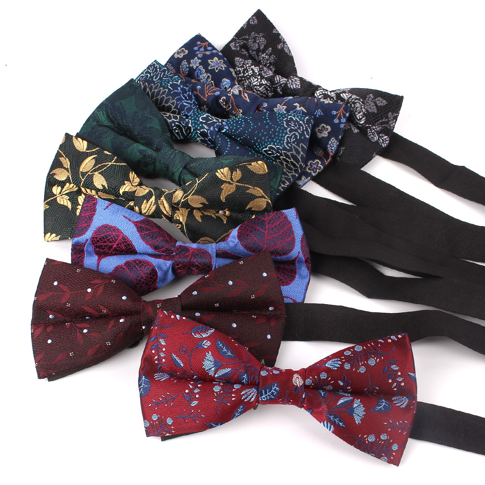 Men Bow Tie Classic Shirts Bowtie For Men Business Wedding Adult Floral Bow Ties Butterfly Suits Cravats Jacquard Bowties