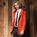 New Men's Wind Breaker Fashion Moss Hooded Plus Size Casual Trench Coat Men Designer Windp-Coat Pull Homme  3 Color M~3XL DF5
