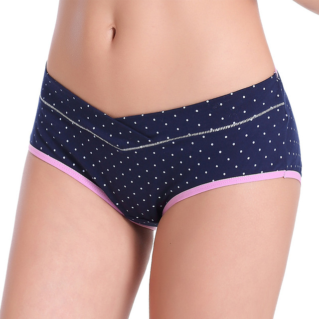 e0278804f369f 3 Pcs pack Clothes for Pregnant Women Intimates Cotton Panties Maternity  Underwear Sexy Dots Waist