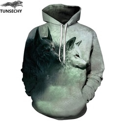 TUNSECHY Wolf Printed Hoodies Men 3D Hoodies Brand Sweatshirts Fashion Tracksuits Wholesale and retail Free transportation 5