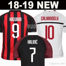 Hot sale AC milan Men best quality 18 19 soccer jersey 2018 2019 football  shirt HIGUAIN b53a67826