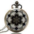 Cobre de Bronze do vintage Quartzo Relógio de Bolso Mulheres Pingente de Colar de Jade Branco Cristal Grande Cadeia de Aniversário Presentes Reloj De Bolsillo