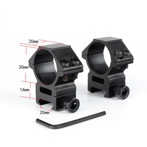 Ohhunt Perfil Médio 20mm Picatinny Weaver Anéis Tactical Caça Scope Monta Acessórios 30mm 2 Pçs