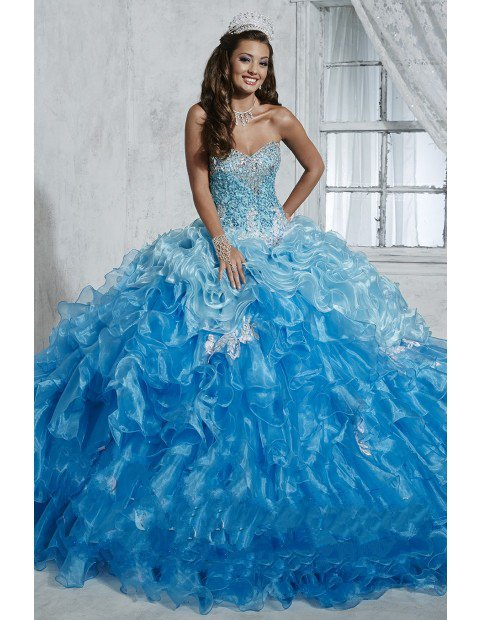 Baby Blue Quinceanera Dresses Ball Gown 2016 Debutante